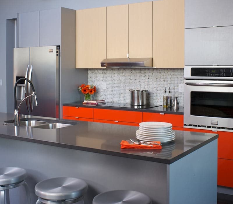 Multi-Color-Kitchen-Cabinets-Red-Accent-Kabi