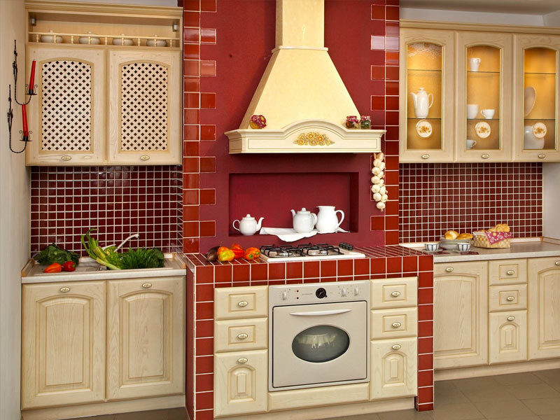 Painted-Red-Kitchen-Cabinets-Nysaan