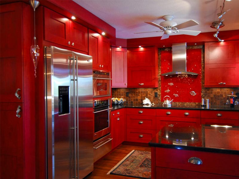 Red Kitchen Cabinets Hgtv