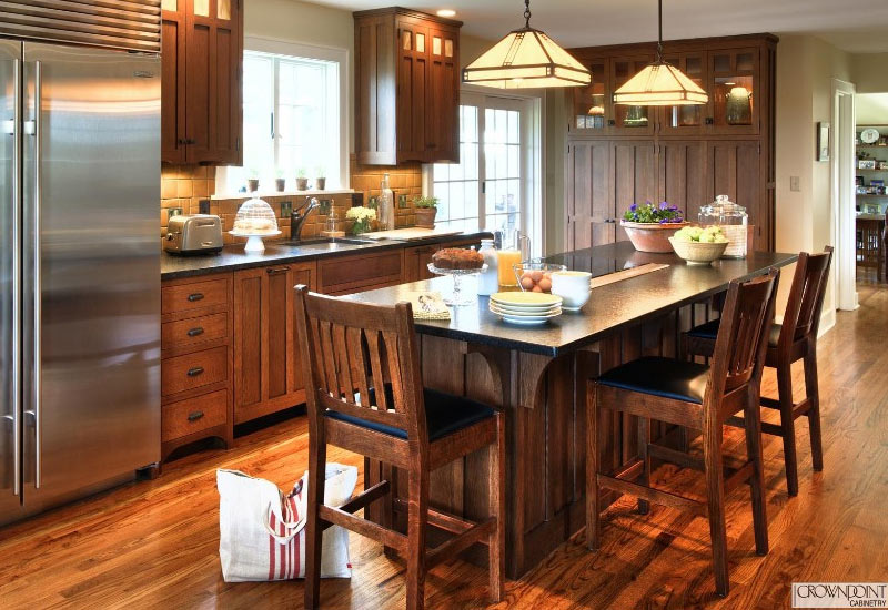 Craftsman-Kitchen-Island-with-Seating-Crown-Point