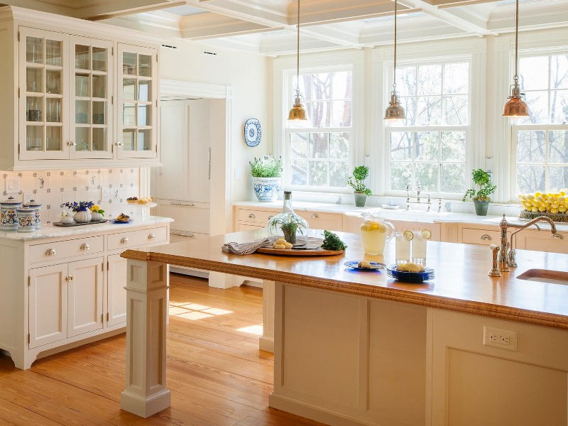 Kitchen-Island-with-Built-In-Table-Crown-Point-Cabinetry