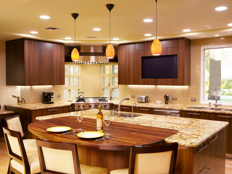 Kitchen With Built In Banquette Island