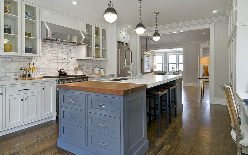 Beau Kitchen Island With A Sink, Seating And Storage