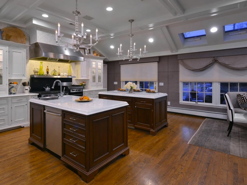Kitchen-Layout-with-Two-Islands-Showcase-Kitchens