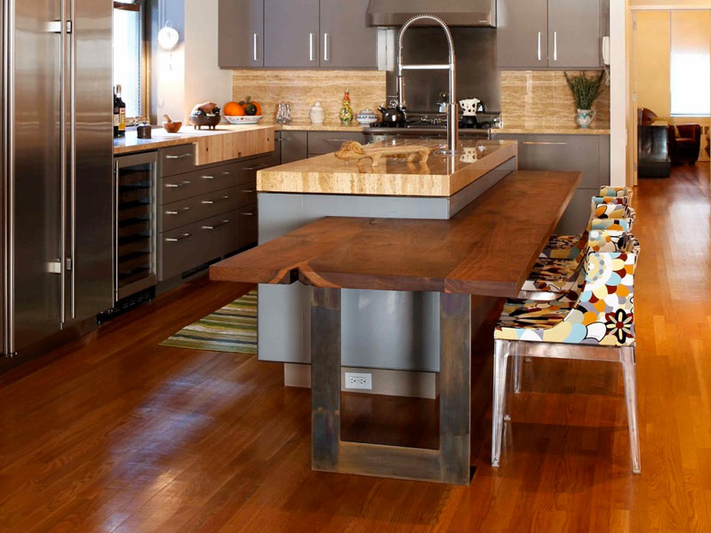Wood Kitchen Island With Seating