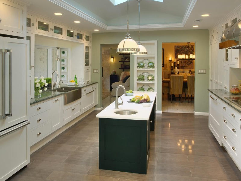 Narrow-Kitchen-Island-with-Sink-Crown-Point-Cabinetry