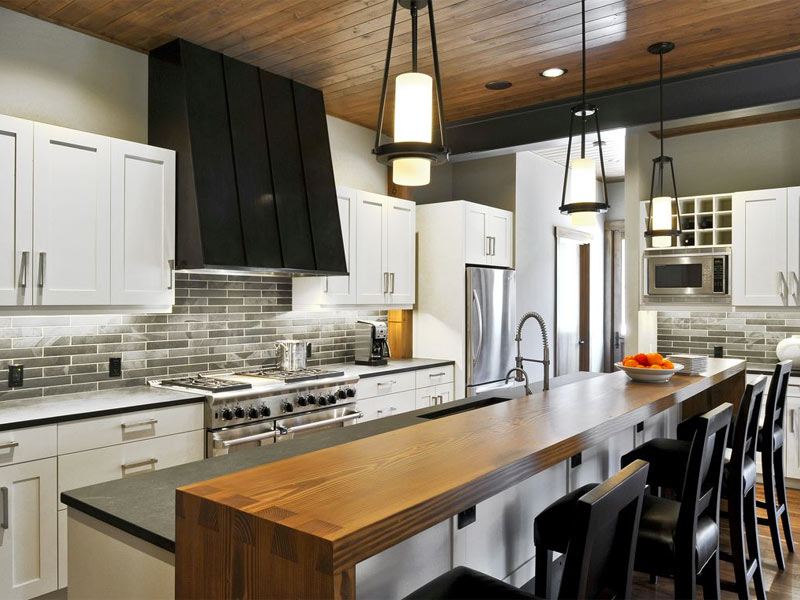 Transition-Kitchen-Island-with-Wood-Bar-Hyde-Evans-Designs