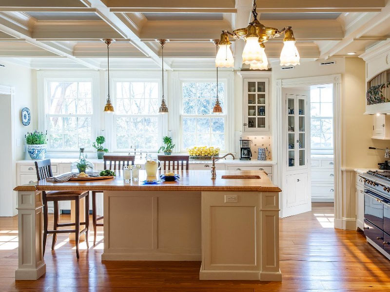 25 kitchen island ideas home dreamy for Built in kitchen islands