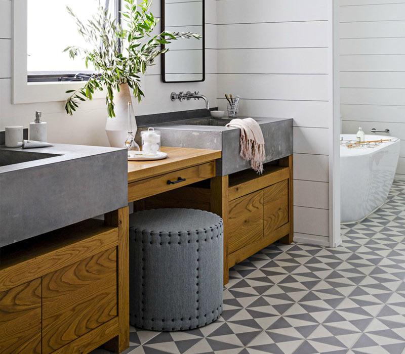 Rustic-Bathroom-Vanity-Concrete-Sinks-House-Beautiful