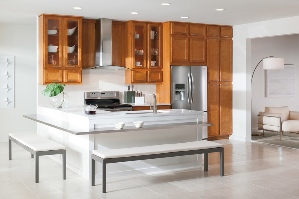 Peninsula Kitchen With Island Seating