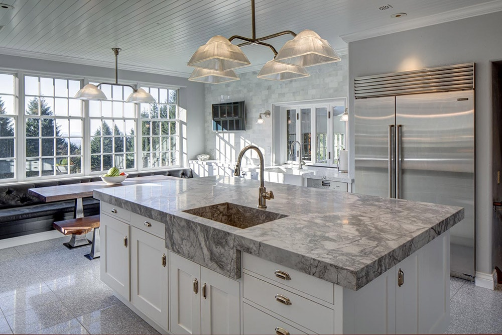 Transitional-Kitchen-with-Granite-Counters-and-Sink-Hammer-and-Hand
