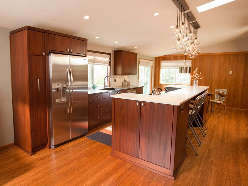 Small galley kitchen ideas pictures tips from hgtv for Pictures of galley kitchen remodels