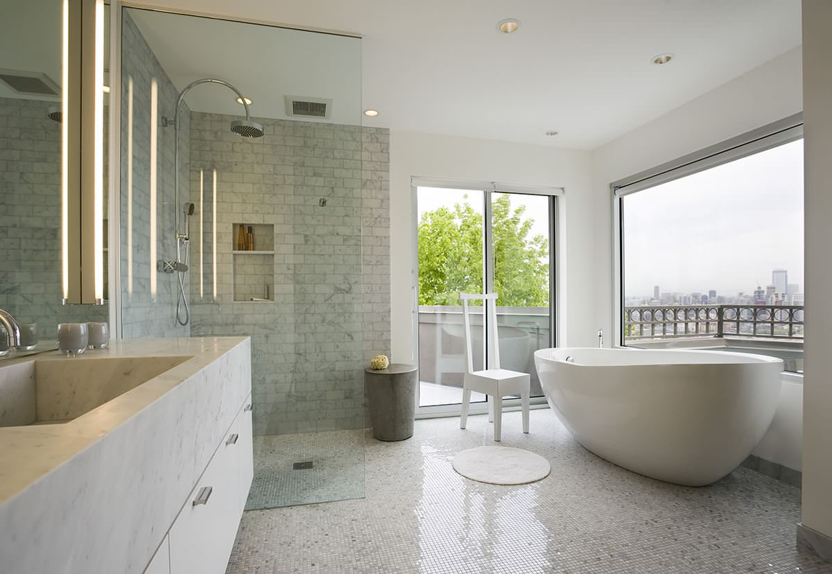 Luxury Master Bath Freestanding Tub Stuart Silk Architects
