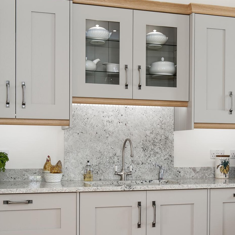 Marble Backsplash White Kitchen