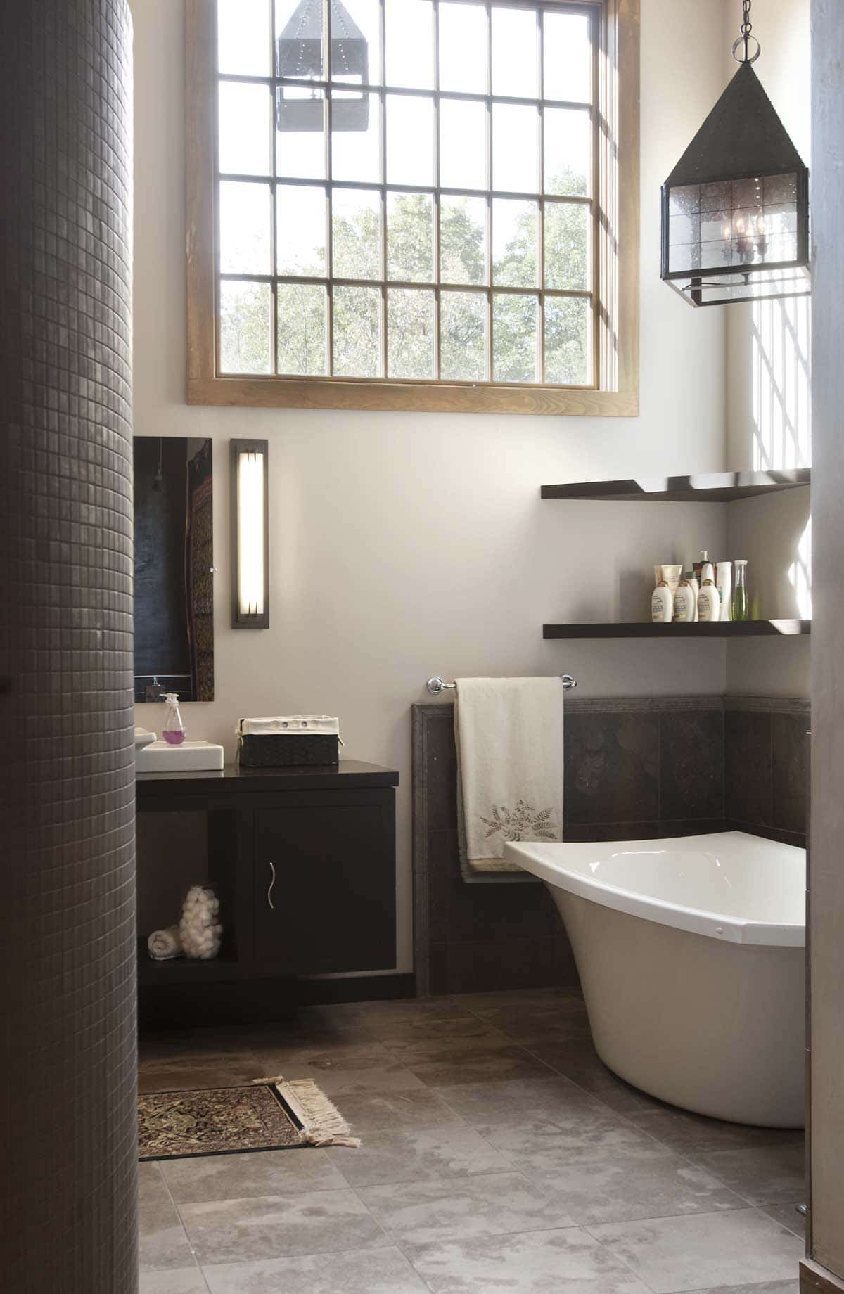 Rustic Bathroom Freestanding Tub Top Kat Photo