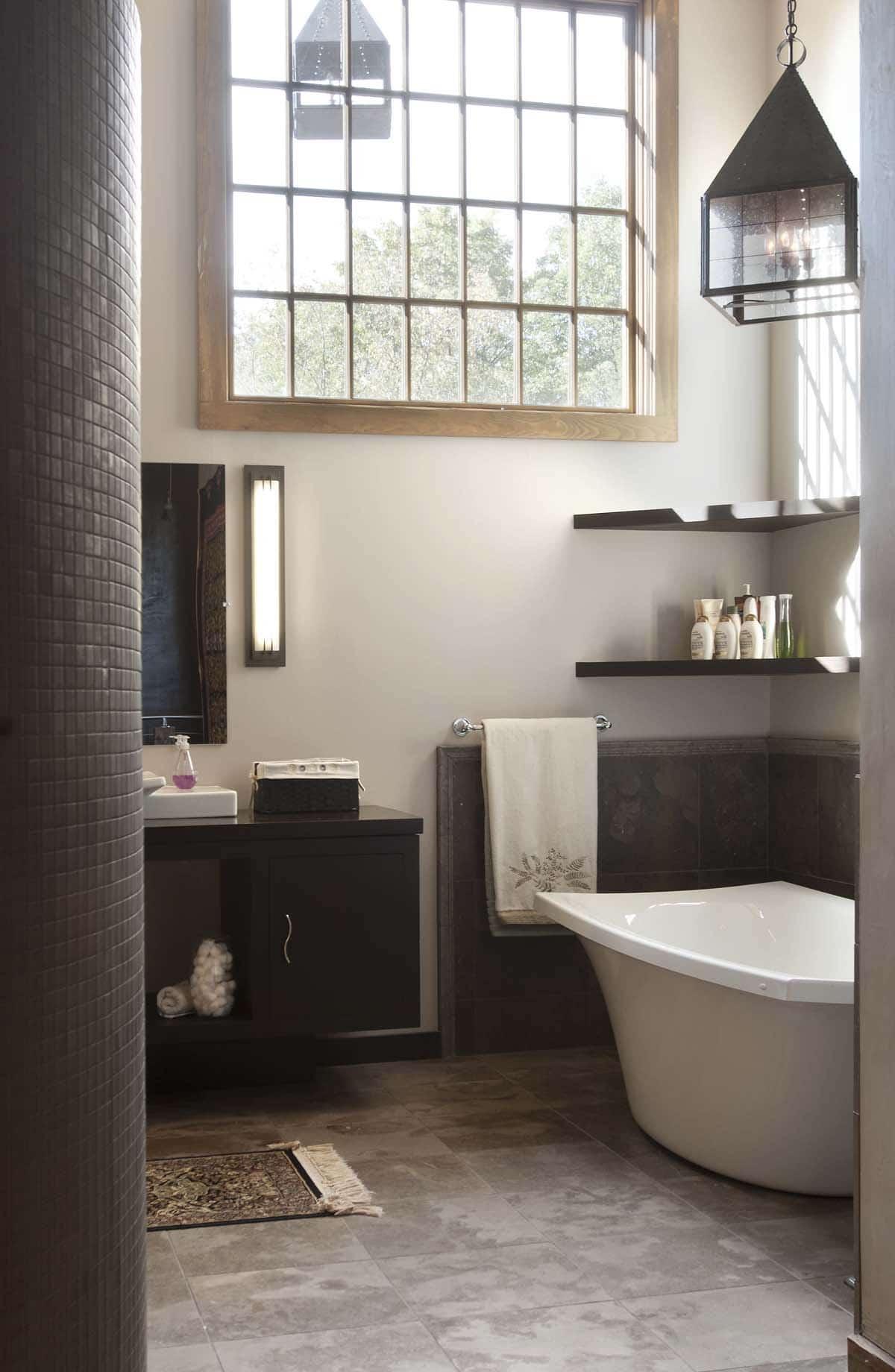 Rustic Bathroom Freestanding Tub Top Kat Photo