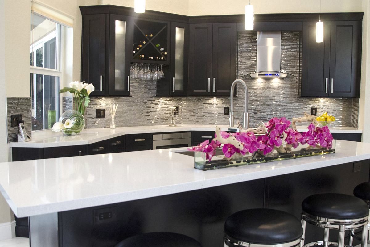 Glass Kitchen Backsplash Photos