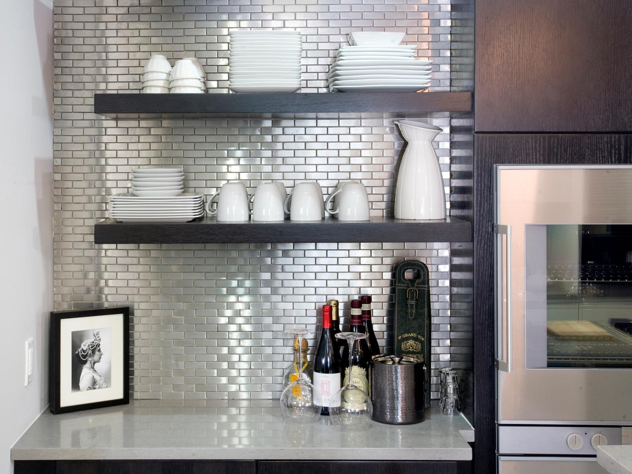 Stainless-Steel-Tile-Backsplash HGTV