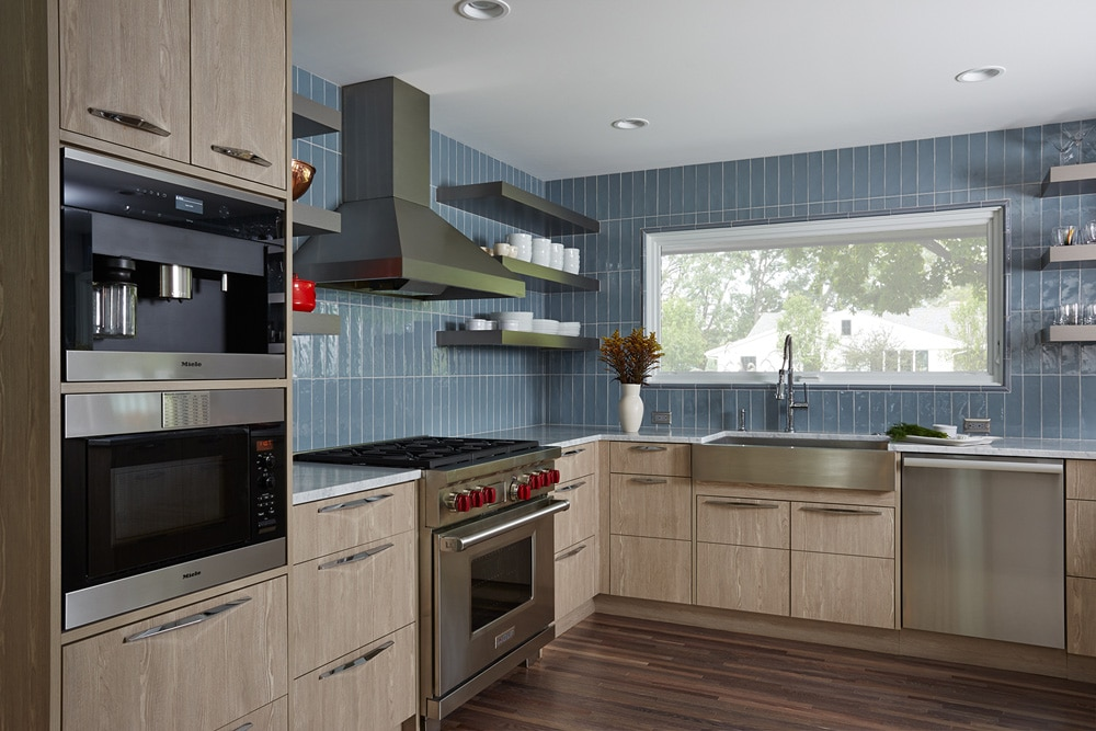 vertical tile kitchen backsplash blue bede design