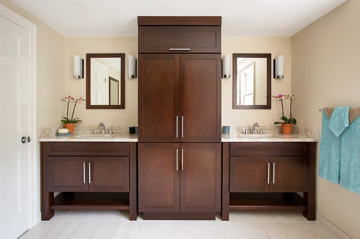 21 bathroom vanities and storage ideas. Black Bedroom Furniture Sets. Home Design Ideas