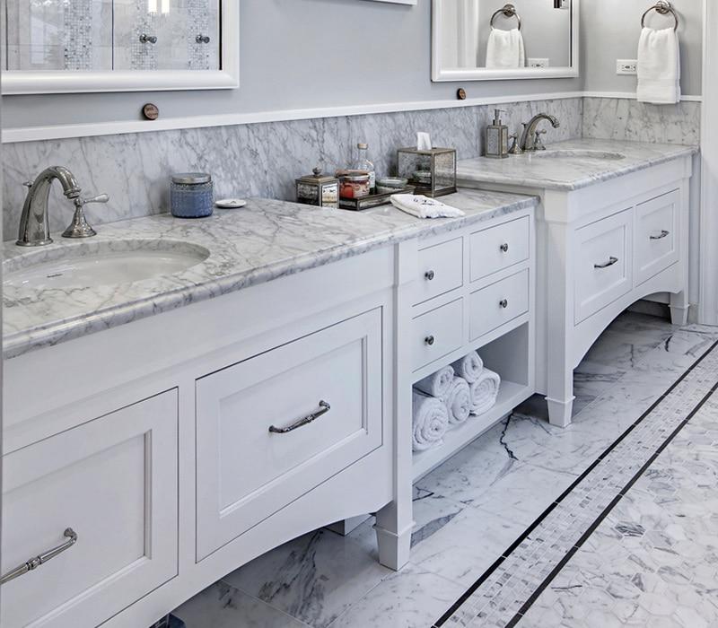 Dual-Sink-Master-Bath-with-Marble-Vanities-TZS-Design