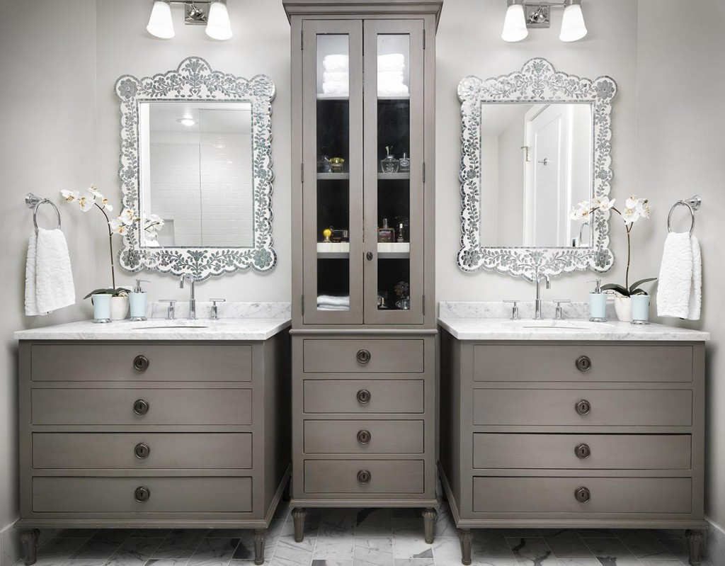 luxury master bathroom two sinks duet design group - Luxurious Bathroom Vanity