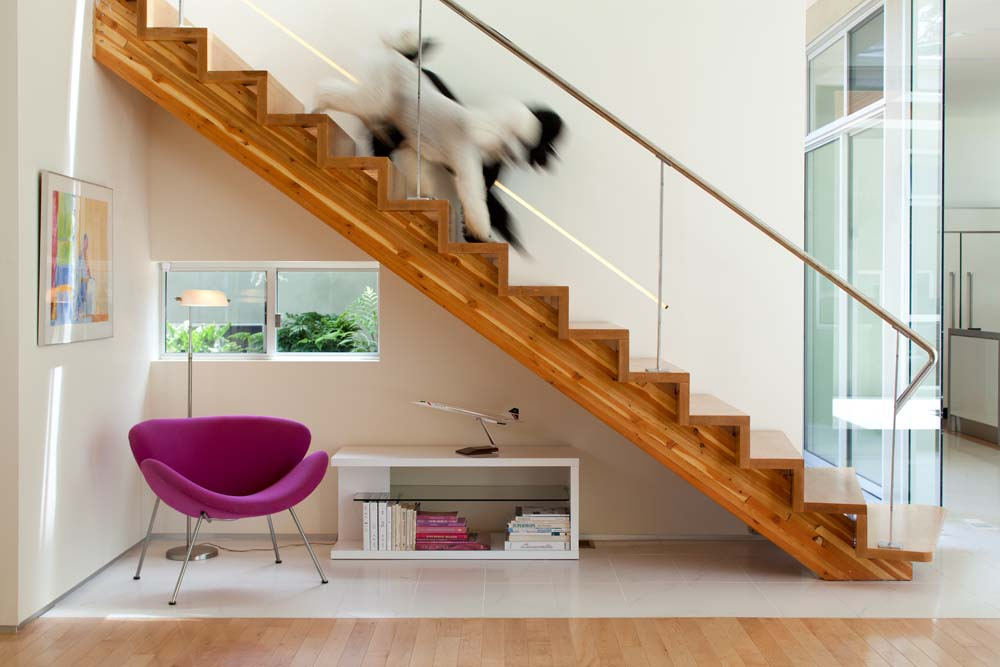 Modern Stairs Plexiglass Railing Casabrava Heather Johnston Architect