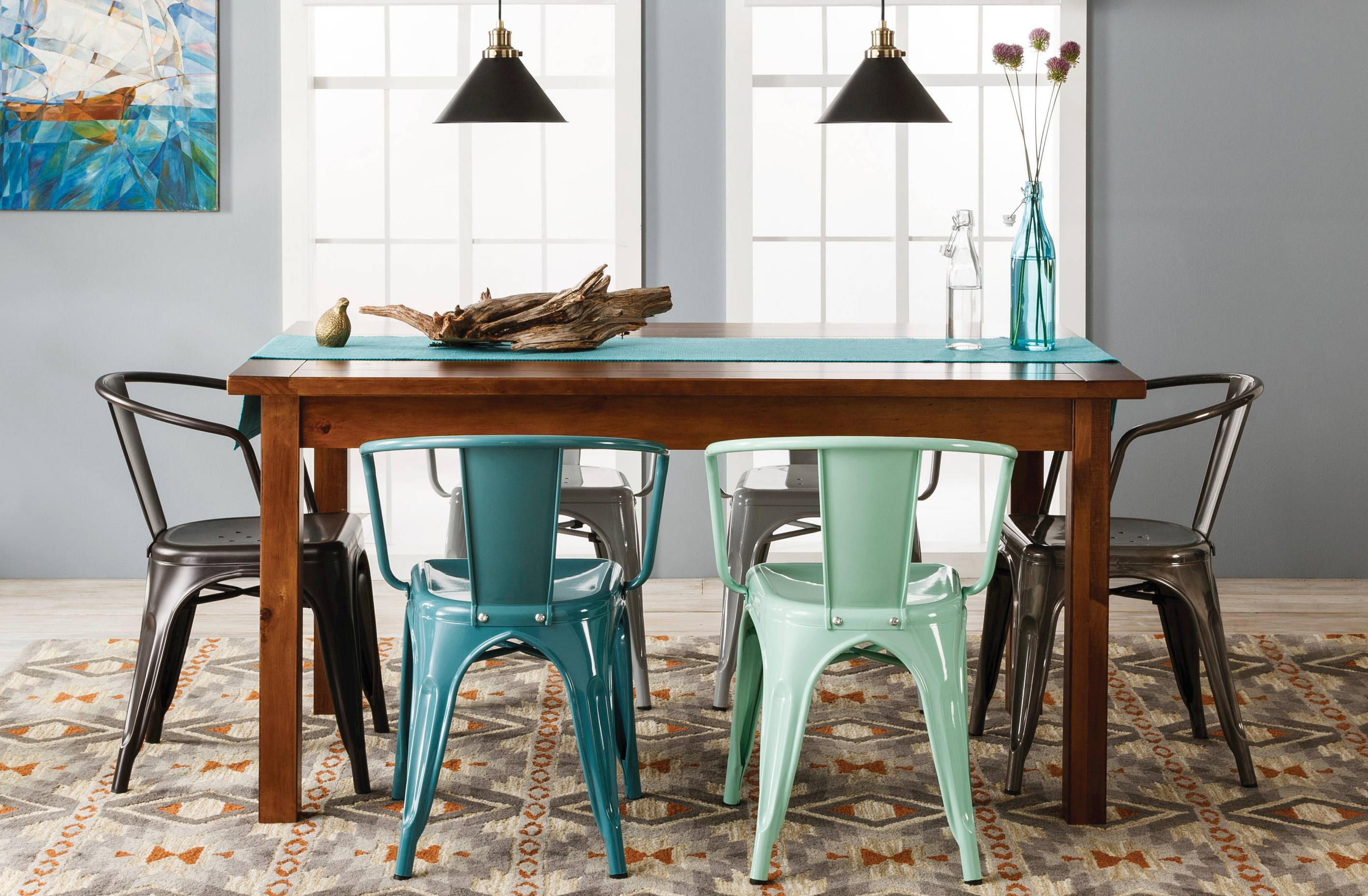 Farm 60 Dining Table Target Threshold Metal Chairs-